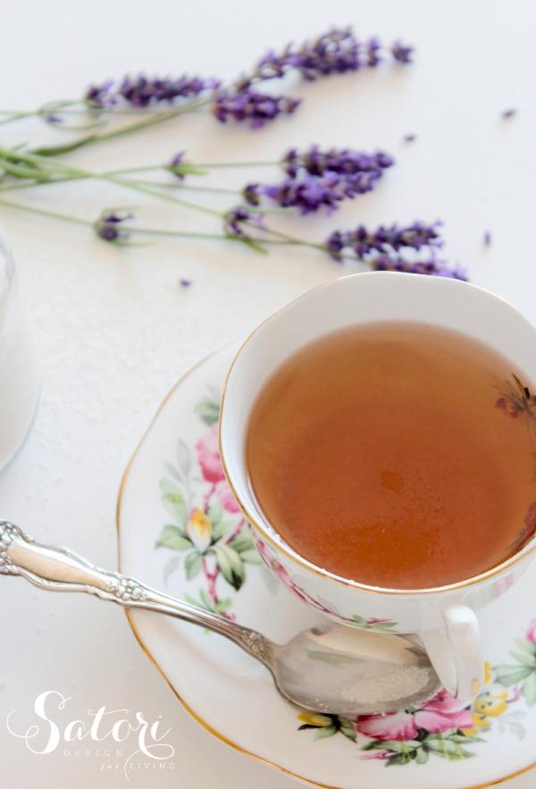 Lavender Infused Sugar in Tea | Satori Design for Living