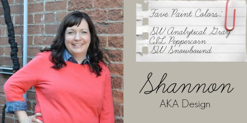 Shannon - AKA Design - Favorite Paint Colors - SW Analytical Gray, Peppercorn, Snowbound