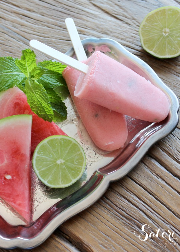 Watermelon Mint Paletas - Frozen Fruit Popsicle Treats by Satori Design for Living