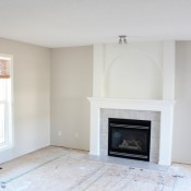 Benjamin Moore Baby Fawn OC-15 Living Room | Satori Design for Living