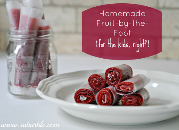 Homemade Strawberry Fruit Roll Up