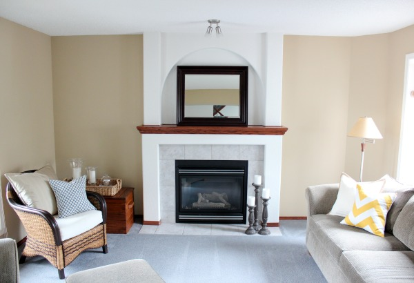 Benjamin Moore Living Room Paint Makeover Before - From Stone House to Baby Fawn