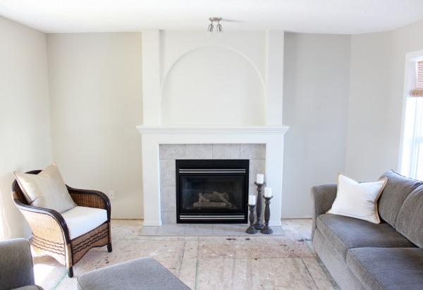 White Dove Benjamin Moore Living Room