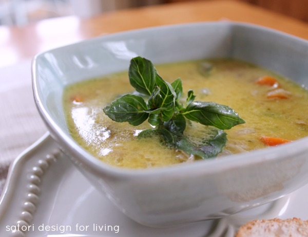 Fall Inspired Recipes - Coconut Curry Chicken Soup by Satori Design for Living