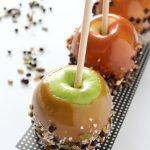 Halloween Caramel Apples- Healthier Option