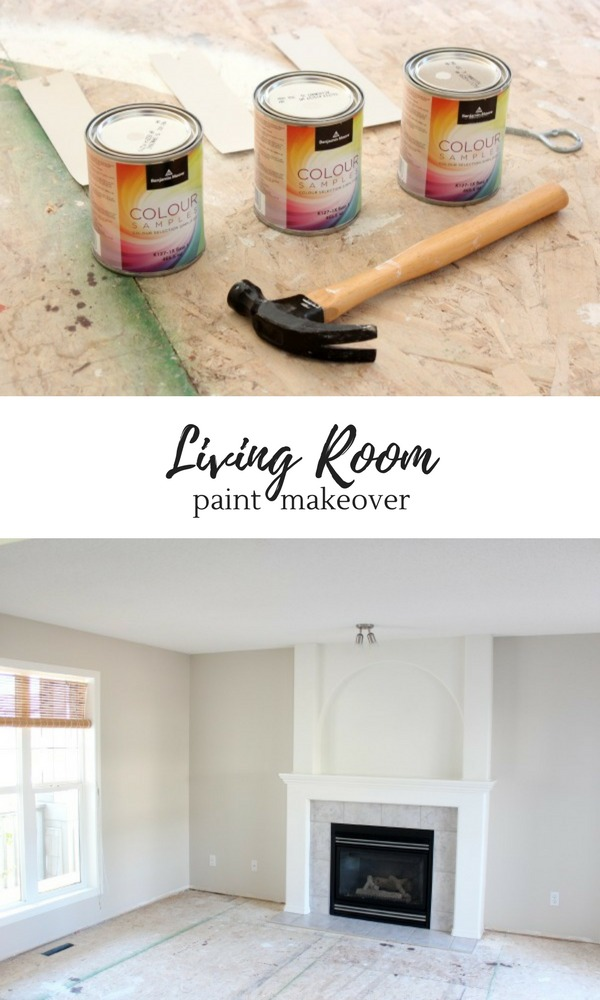 Living Room Paint Refresh - Painting our living room in Baby Fawn and White Dove by Benjamin Moore.