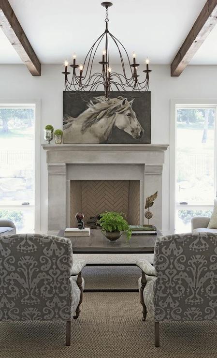 Oversized Art in Living Room - Rachel Halvorson Design