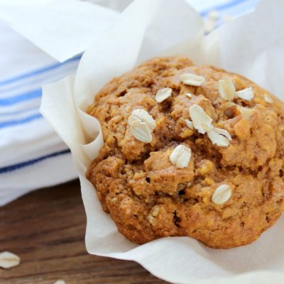 These pumpkin oat muffins are packed with good things like protein and fibre without compromising taste. Perfect on-the-go breakfast option or mid-afternoon snack!