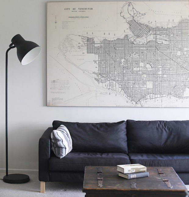 city of vancouver map - oversized art from Anewall