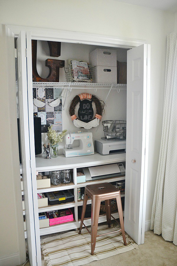 Ideas for Repurposing an Old Dresser- Craft Closet Office - Liz Marie Blog