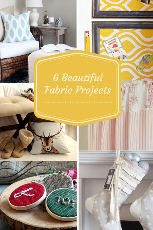6 Beautiful Projects Using Fabric for the One Item Project Challenge - Discover more at SatoriDesignforLiving.com #fabricdiyprojects #fabric #sewing