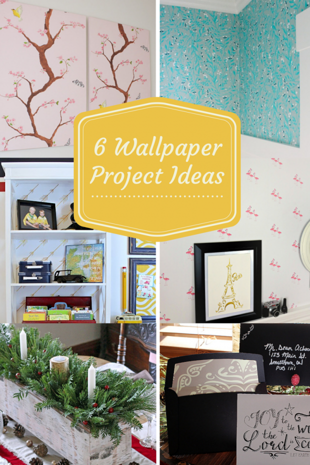 6Wallpaper Project Ideas for the One Item Project Challenge - Discover more at SatoriDesignforLiving.com