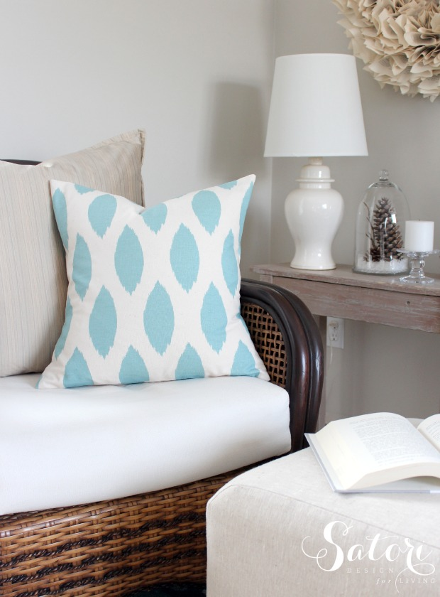 Chipper Village Blue Evelope Pillow Cover | Satori Design for Living