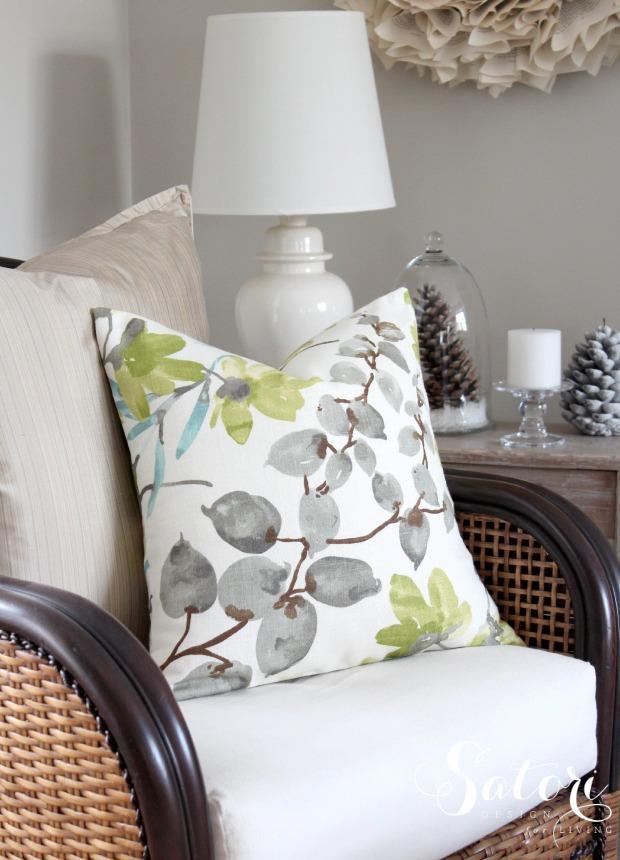 Braemore Gazebo Cloud Envelope Pillow Cover - Living Room Decorating | Satori Design for Living