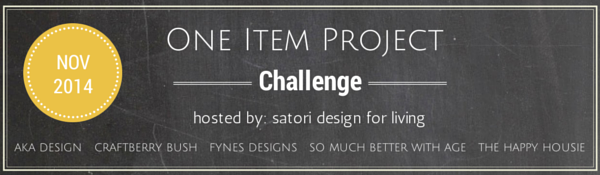 One Item Project Challenge 2014 - Satori Design for Living