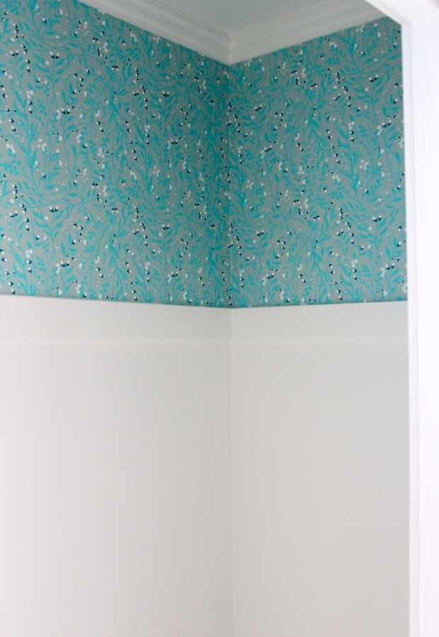 Powder Room Wallpaper from Spoonflower (Snow Flower by Thistle and Fox) - Satori Design for Living
