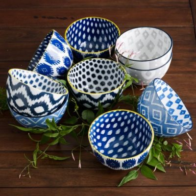 Holiday Hostess Gifts - Printed Ikat Bowls