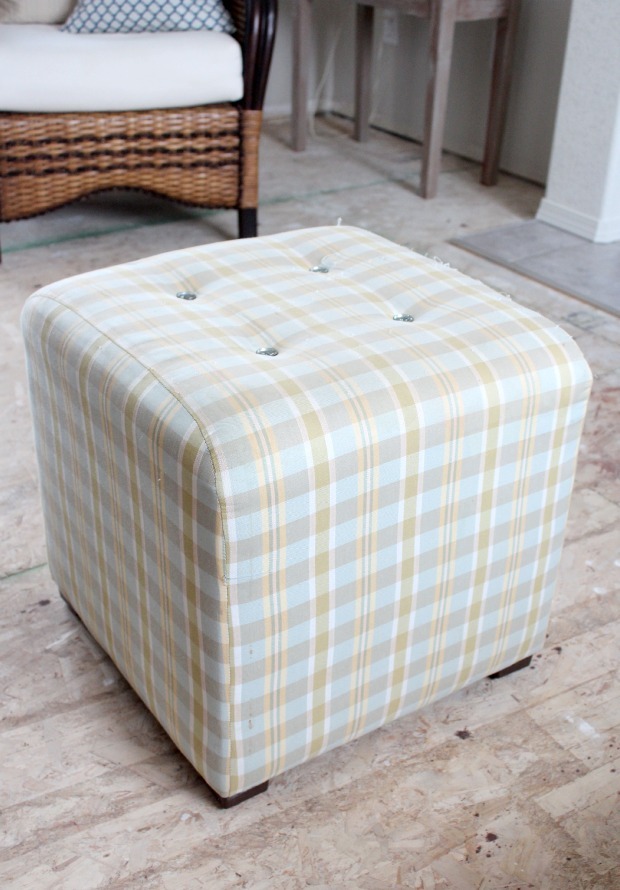 Thrift Shop Ottoman Before - Satori Design for Living
