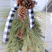 Winter Swag Outdoor Decorating Project for the Christmas Season