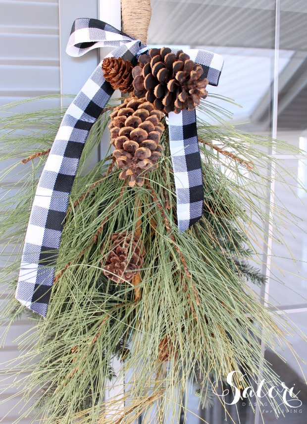 Winter Swag - Easy DIY project for the Christmas season | Satori Design for Living
