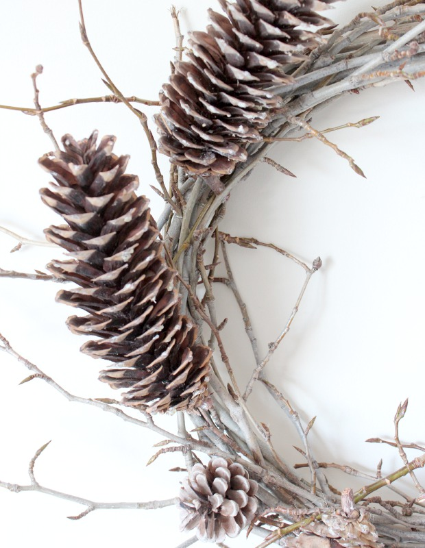 How to Make a Pinecone and Twig Wreath for Under $5 | Satori Design for Living