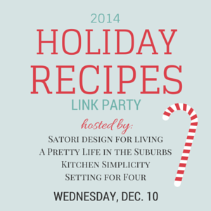 2014 Holiday Recipes Link Party Hosted by Satori Design for Living