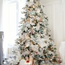 Christmas Inspiration - house tour 2014 flocked tree - craftberry bush