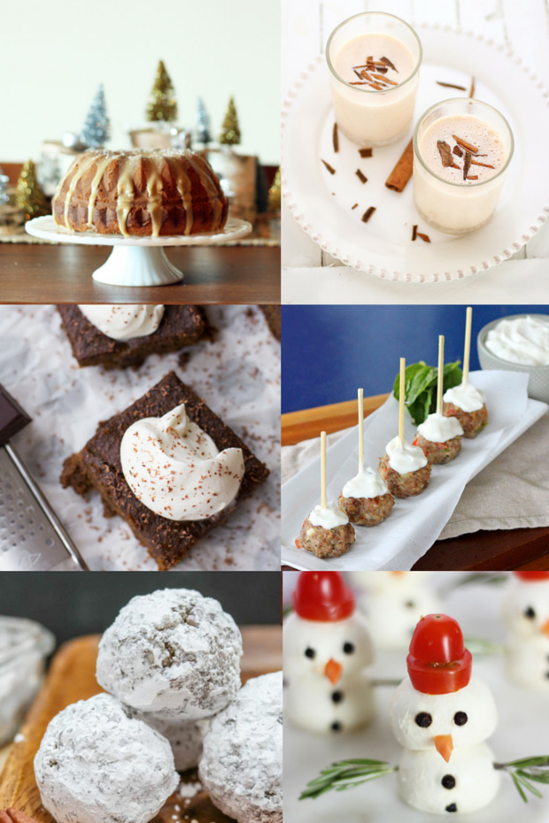 The Best Holiday Recipe Ideas- cakes, appetizers, cocktails and more from the Holiday Recipes link party hosted by Satori Design for Living