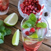 Festive Pomegranate Mojitos