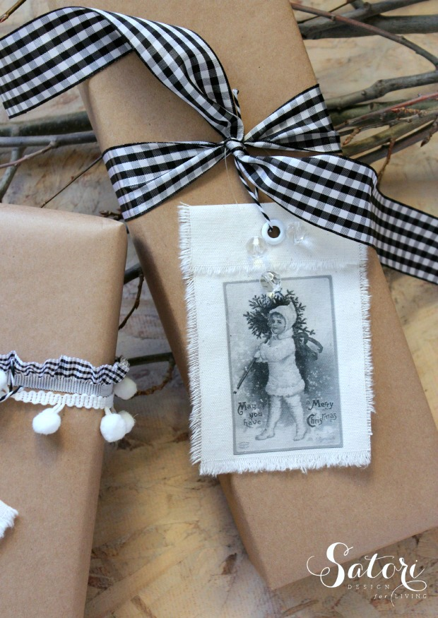 DIY Vintage Christmas Gift Tags - Full Tutorial at SatoriDesignforLiving.com