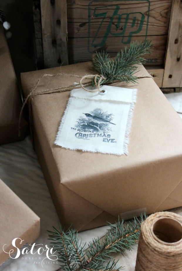 DIY Vintage Christmas Gift Tags - Shabby Chic Holiday Gift Wrap - Satori Design for Living