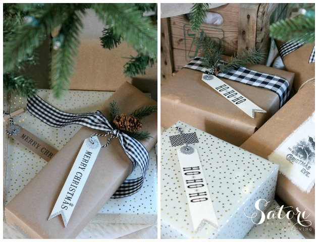 Vintage Glam Christmas Gift Wrap | Satori Design for Living