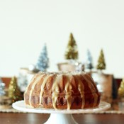 Holiday Recipe Ideas - Eggnog cake with salted caramel glaze