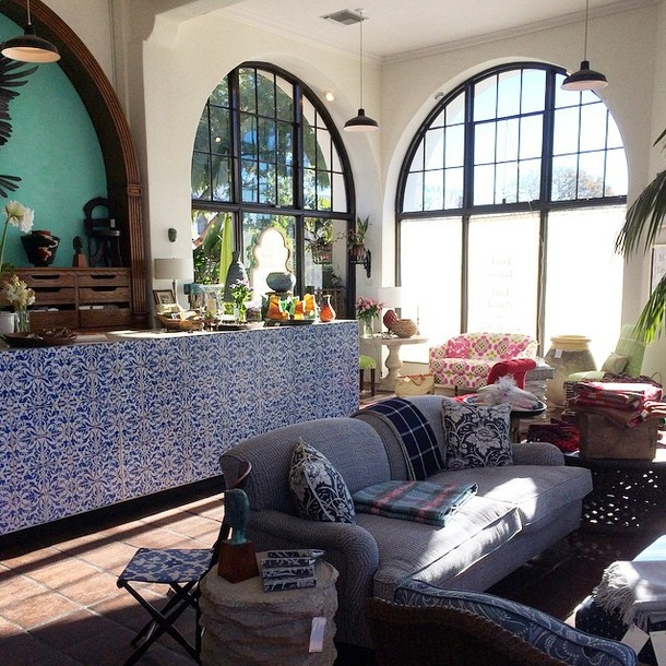 California Style - Blue & White Patterned Tile at Raoul Textiles - Satori Design for Living