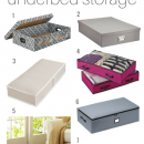 Make use of the extra space in your room with underbed storage containers