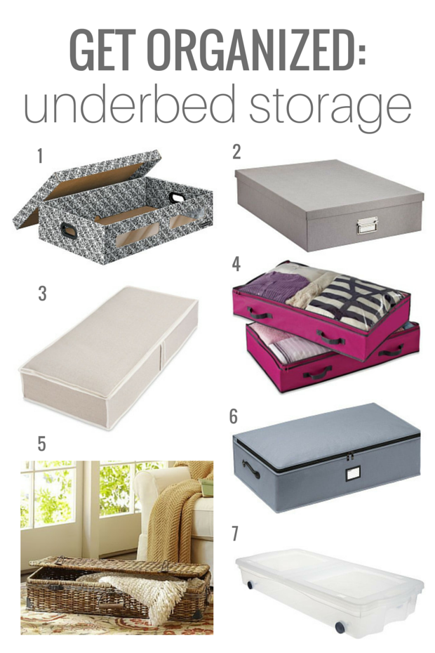 GET ORGANIZED underbed storage containers - Satori Design for Living