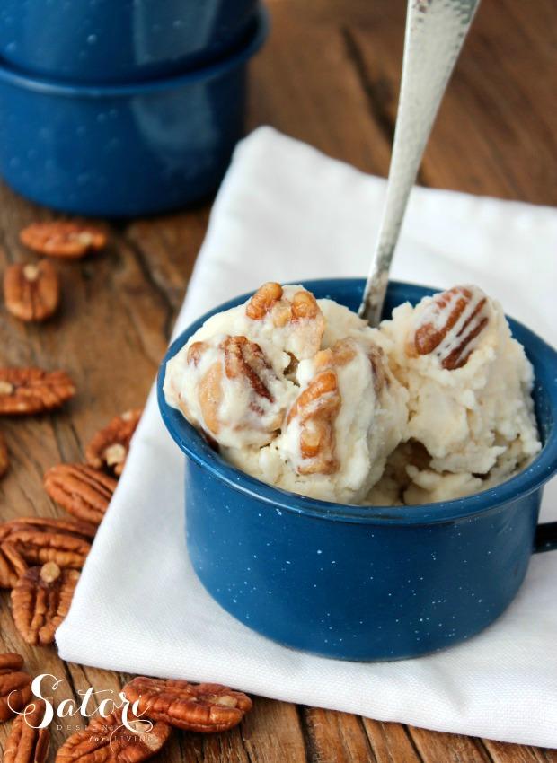 Homemade Caramel Pecan Ice Cream | Satori Design for Living