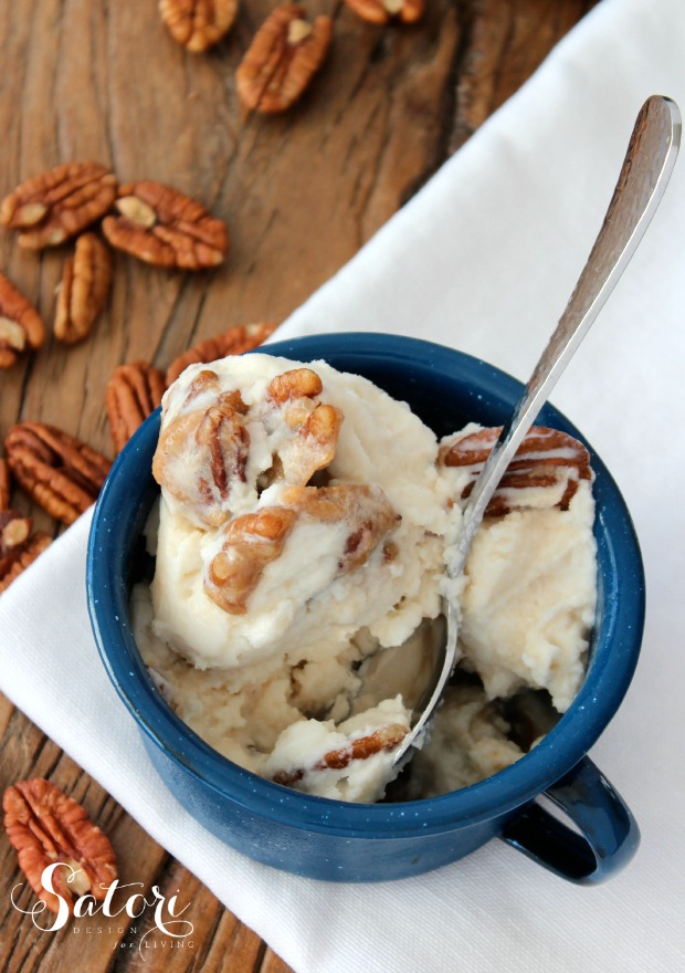 Homemade Caramel Pecan Ice Cream | Satori Design for Living