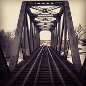 Train Bridge Photograph | Satori Design for Living