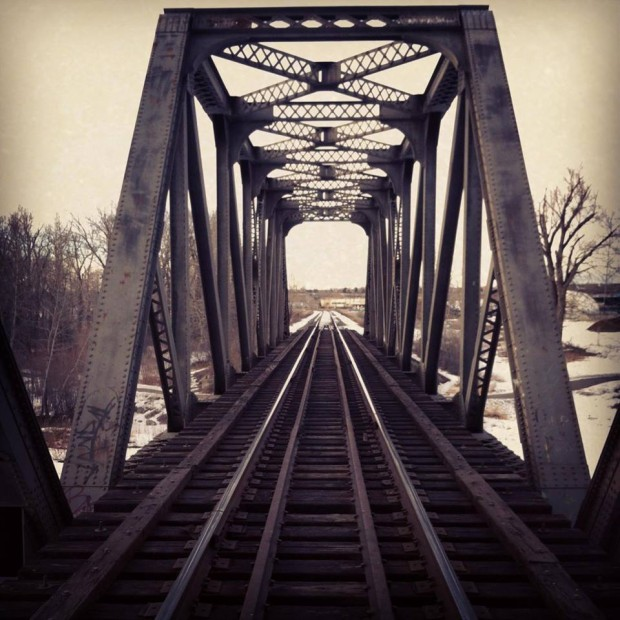 Train Bridge Photograph | Satori Design for Living