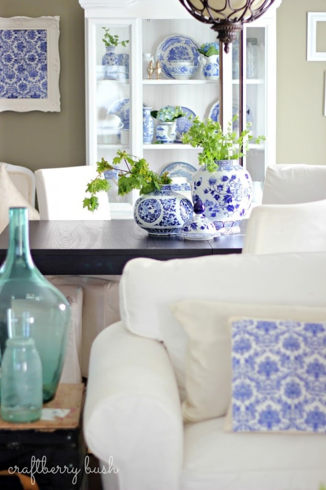 Blue and White Porcelain Collection via Craftberry Bush