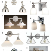 Double Sconce Bathroom Light Fixtures