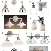 Double Sconce Bathroom Light Fixtures