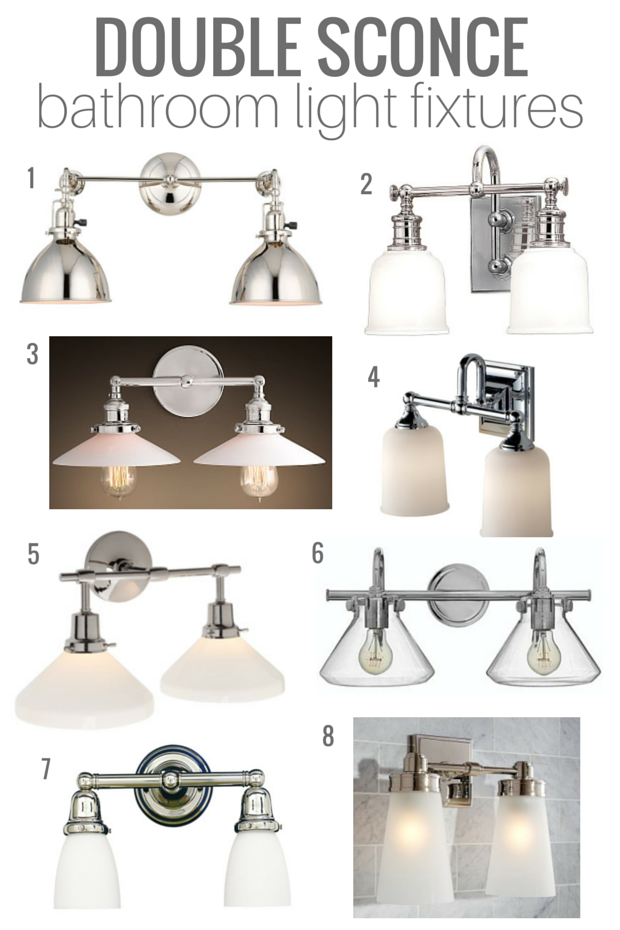Double Sconce Bathroom Lighting | Classic Style, Vintage Nod, Good Quality - Satori Design for Living