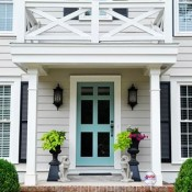 Benjamin Moore Grenada Villa Painted Front Door via Dixie Delights
