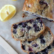Blueberry Lemon Bread with Walnuts