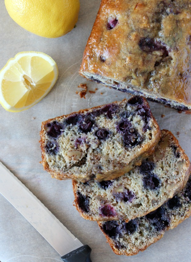 Blueberry Lemon Bread with Walnuts
