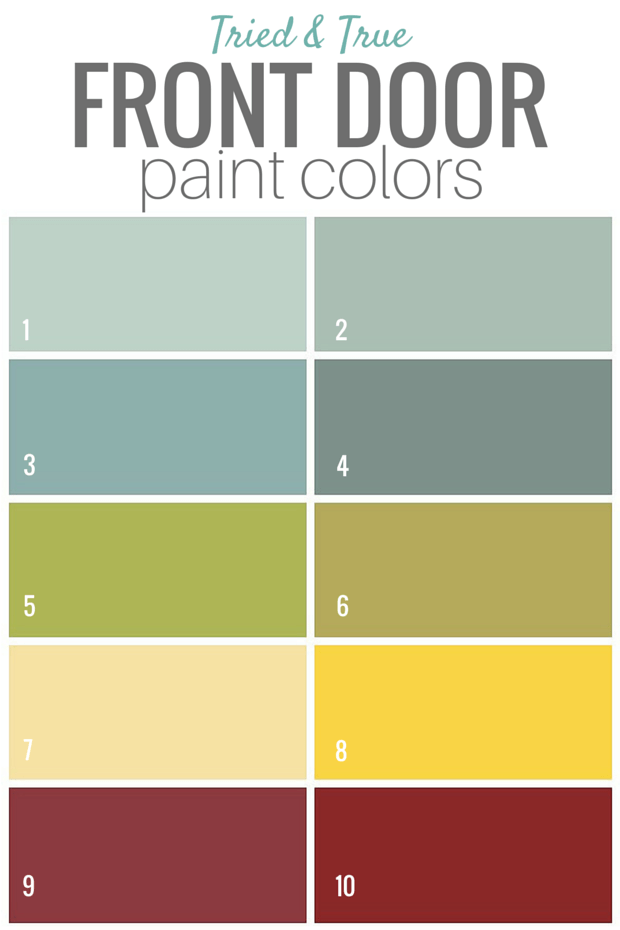 Tried and True Front Door Paint Colors