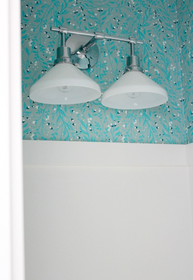 Powder Room Update - Eastmoreland Double Sconce Light Fixture in Polished Chrome | Satori Design for Living