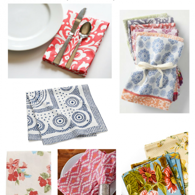 Setting the Spring Table: Napkins